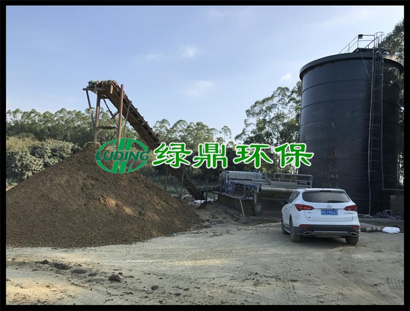 洗沙污泥泥浆处理工程,3米带宽带式脱水机运行现场(福建洗沙) 2