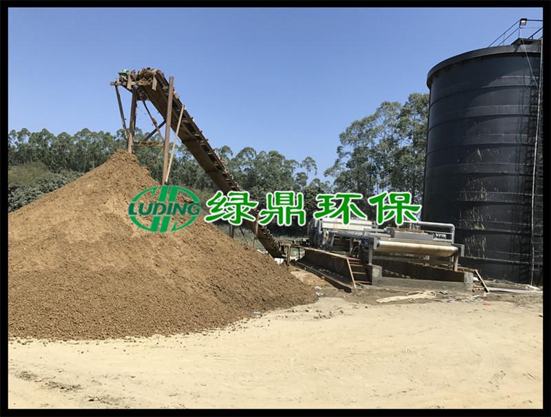 洗沙污泥泥浆处理工程,3米带宽带式脱水机运行现场(福建洗沙) 8