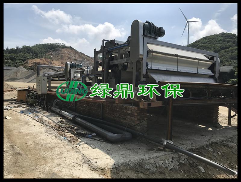 洗沙污泥泥浆处理工程,3米带宽带式脱水机运行现场(福建洗沙) 4