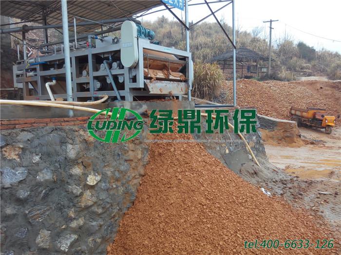 选矿厂带式压滤机处理,选矿洗矿污泥脱水机处理案例 2